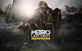 Metro 2033 Redux, rain, soldier HD wallpaper
