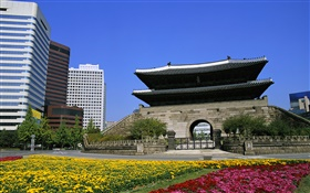 Namdaemun Gate, Seoul, Korea HD wallpaper