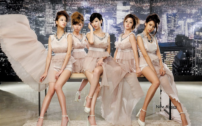 Nine Muses, Korea music girls 01 Wallpapers Pictures Photos Images