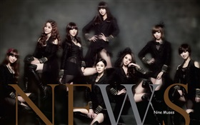 Nine Muses, Korea music girls 02 HD wallpaper
