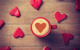 One cup love coffee HD wallpaper