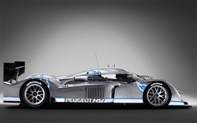 Peugeot hybrid race car side view HD wallpaper