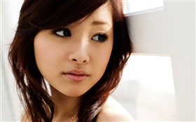 Pure and lovely oriental girl HD wallpaper