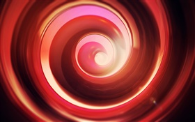 Red abstract swirling circle HD wallpaper