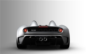 Scuderia Bizzarrini P538 supercar rear view HD wallpaper