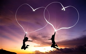 Show love heart in the sky HD wallpaper