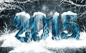 Snow and ice style, 2015 New Year HD wallpaper