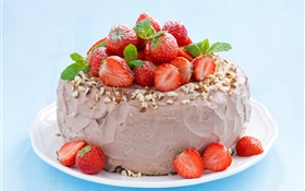 Taro strawberry cake HD wallpaper