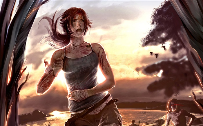 Tomb Raider, Lara Croft, sunset Wallpapers Pictures Photos Images