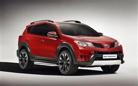 Toyota RAV4 Adventure, red color car HD wallpaper