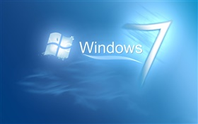 Windows 7 in blue water
