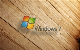 Windows 7, wood board HD wallpaper