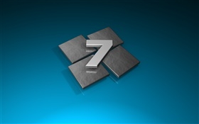 Windows Seven 3D style HD wallpaper