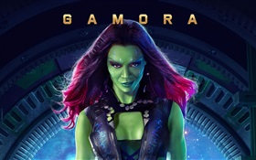 Zoe Saldana as Gamora, Guardians of the Galaxy HD wallpaper