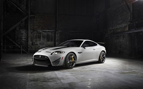 2014 Jaguar XKR-S GT white car HD wallpaper