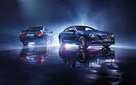 2015 Alpina BMW two blue cars HD wallpaper