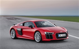 2015 Audi R8 red color supercar