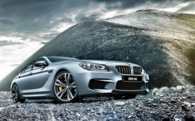 2015 BMW M6 F06 silver car front view HD wallpaper