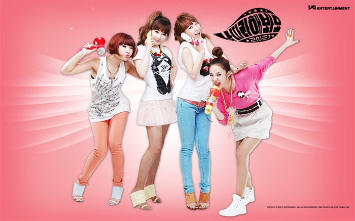 2NE1, Korean music girls 04 Wallpapers Pictures Photos Images