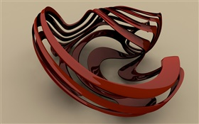 3D brown curve