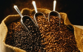 A bag of coffee beans HD wallpaper