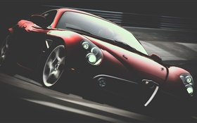 Alfa Romeo red supercar HD wallpaper