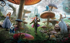 Alice in Wonderland, movie widescreen HD wallpaper