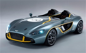 Aston Martin CC100 Speedster concept supercar front side view