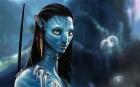 Avatar 3D movie, beautiful girl HD wallpaper