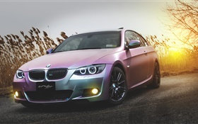 BMW E92 M3 pink car HD wallpaper