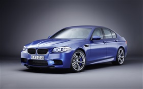 BMW M5 blue car HD wallpaper