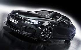 BMW M6 black car front view
