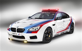 BMW M6 safety car side view HD wallpaper