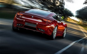 BMW M9 Radion Concept red car HD wallpaper