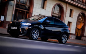 BMW X6 black car HD wallpaper