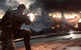 Battlefield 4, battleship HD wallpaper