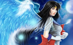 Beautiful anime angel girl HD wallpaper
