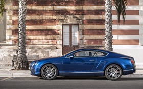 Bentley Continental GT blue car HD wallpaper