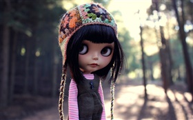 Black hair toy girl, doll HD wallpaper