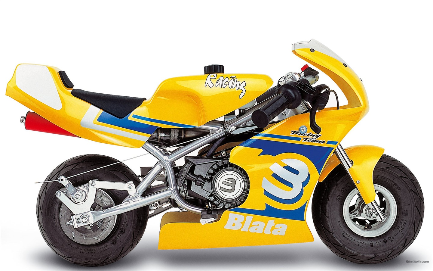 Blata Minibike yellow motorcycle 1440x900 wallpaper