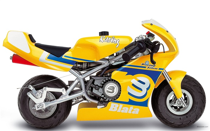 Blata Minibike yellow motorcycle Wallpapers Pictures Photos Images