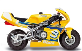 Blata Minibike yellow motorcycle HD wallpaper