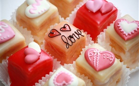 Candy, love hearts, dessert HD wallpaper