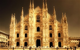 Cathedral, Milan, Italy, buildings HD wallpaper