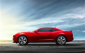 Chevrolet Camaro red car HD wallpaper
