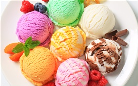 Colorful ice cream, dessert HD wallpaper