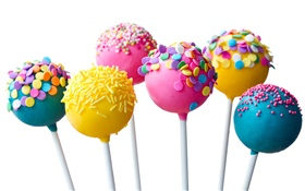 Colorful lollipop, candy HD wallpaper