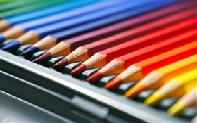 Colorful pencils HD wallpaper