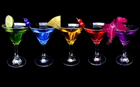 Different colors cocktail HD wallpaper