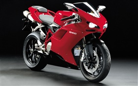 Ducati 848 red motorcycle HD wallpaper